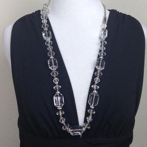 Ann Taylor Loft Clear Bead Necklace